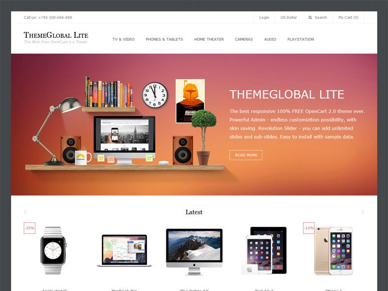 THEMEGLOBAL LITE - 100% FREE THEME